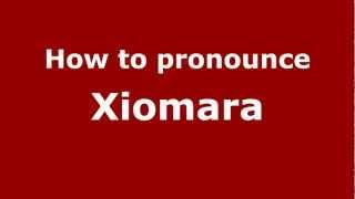 How to Pronounce Xiomara - PronounceNames.com