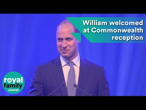 Prince William receives warm welcome at Commonwealth reception