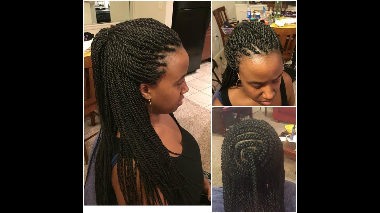 282: Natural Hair `Perimeter Senegalese Twists`