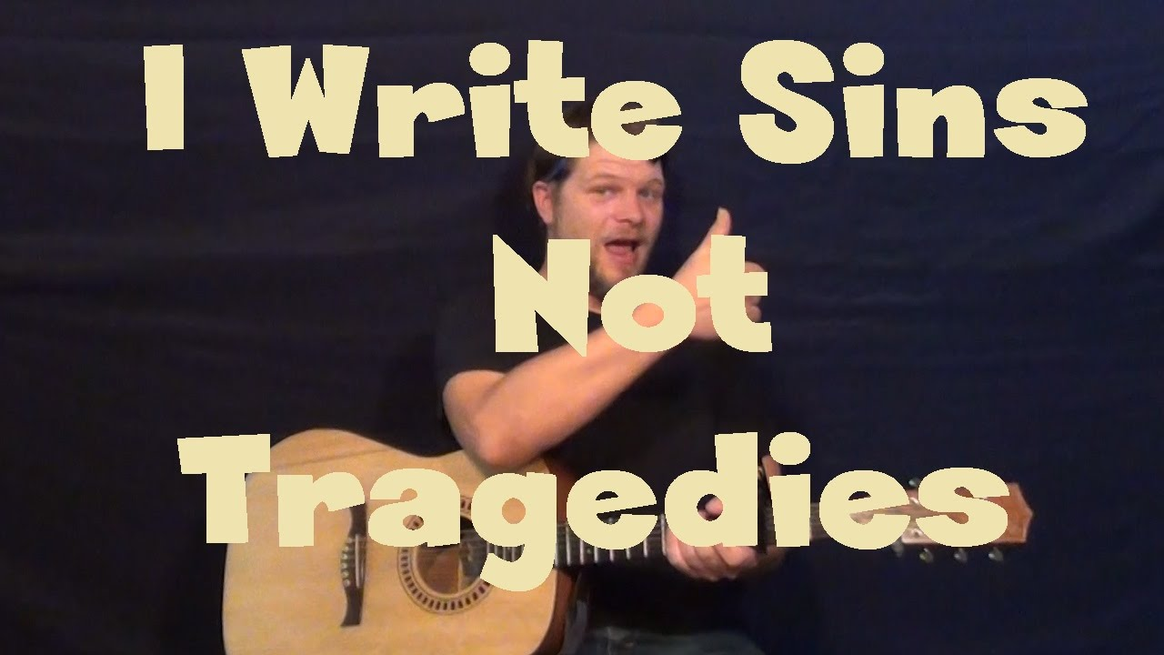 I Write Sins Not Tragedies Panic At The Disco Easy Guitar Lesson
