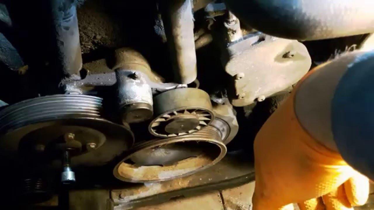 Belt Tensioner Pulley >> Demontaż napinacza paska wieloklinowego MB W210 E290TD