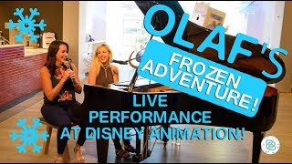 Live Performance From Olaf's Frozen Adventure Movie!