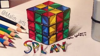 3D Splay Rubik's Cube   Malin Arts