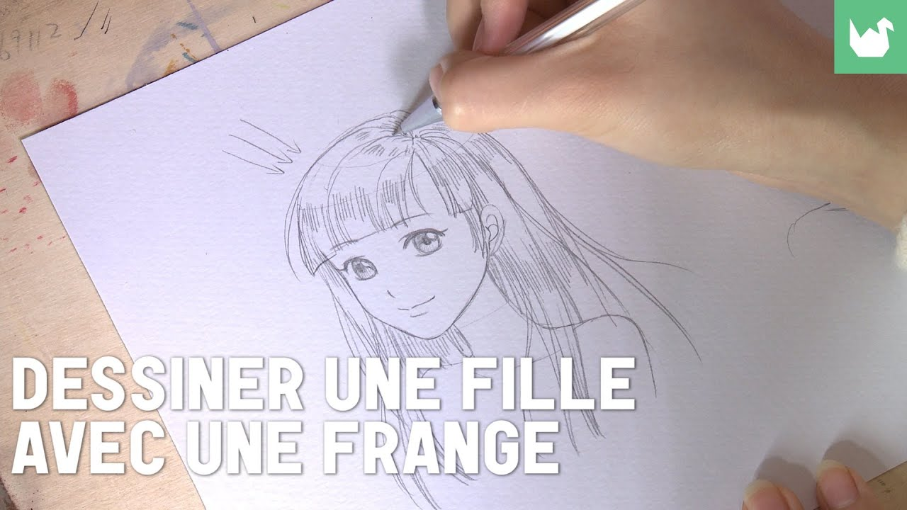 dessiner une fille avec une frange youtube. Black Bedroom Furniture Sets. Home Design Ideas
