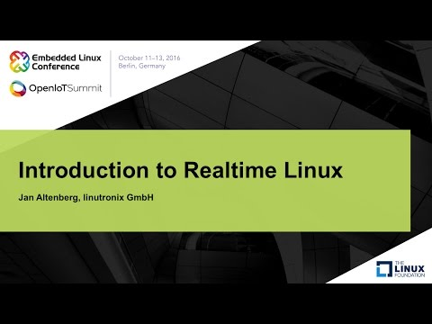 Introduction to Realtime Linux