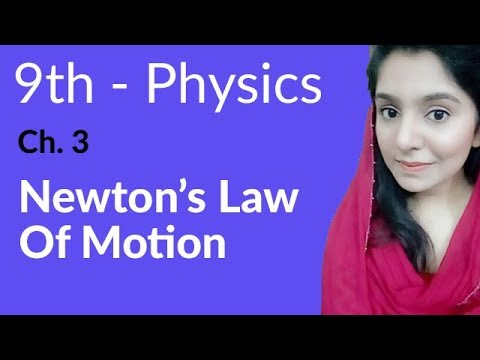 Newton's Laws of Motion - Physics Chapter 3 Dynamics - 9th Class