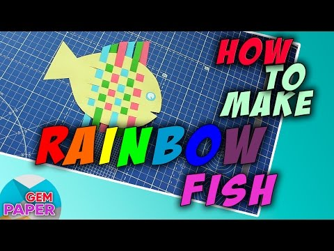 🐟  How To Make A Rainbow Fish | Paper Craft