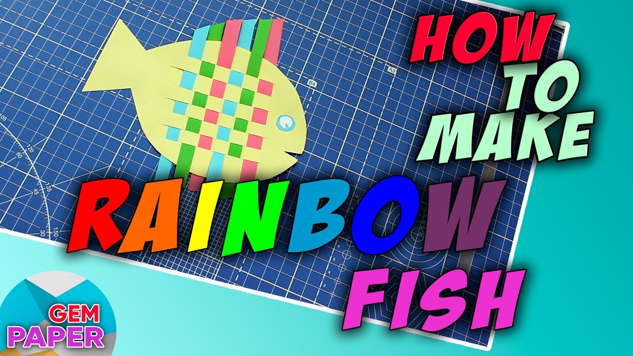 How To Make A Rainbow Fish Paper Craft Youtube