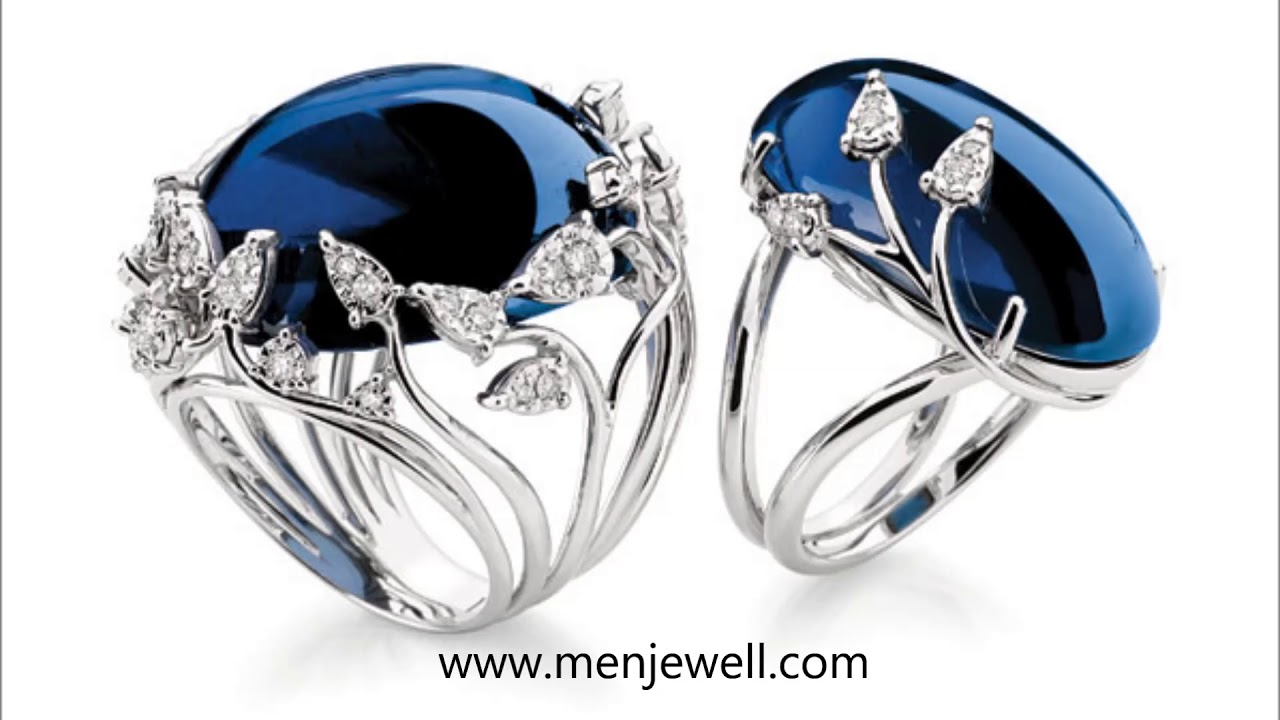 Latest Jewellery Blue Sapphire / Nilam Ring Design Collection for ...