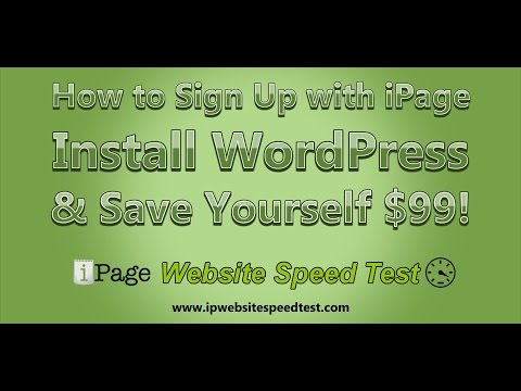 How to Sign Up with iPage, Install WordPress, and Save Yourself $99!