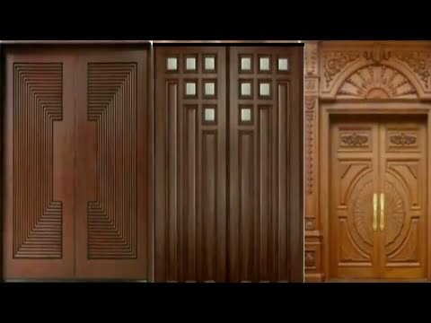 Top 40 Modern And Decorative Main Entrance Wooden Double Door