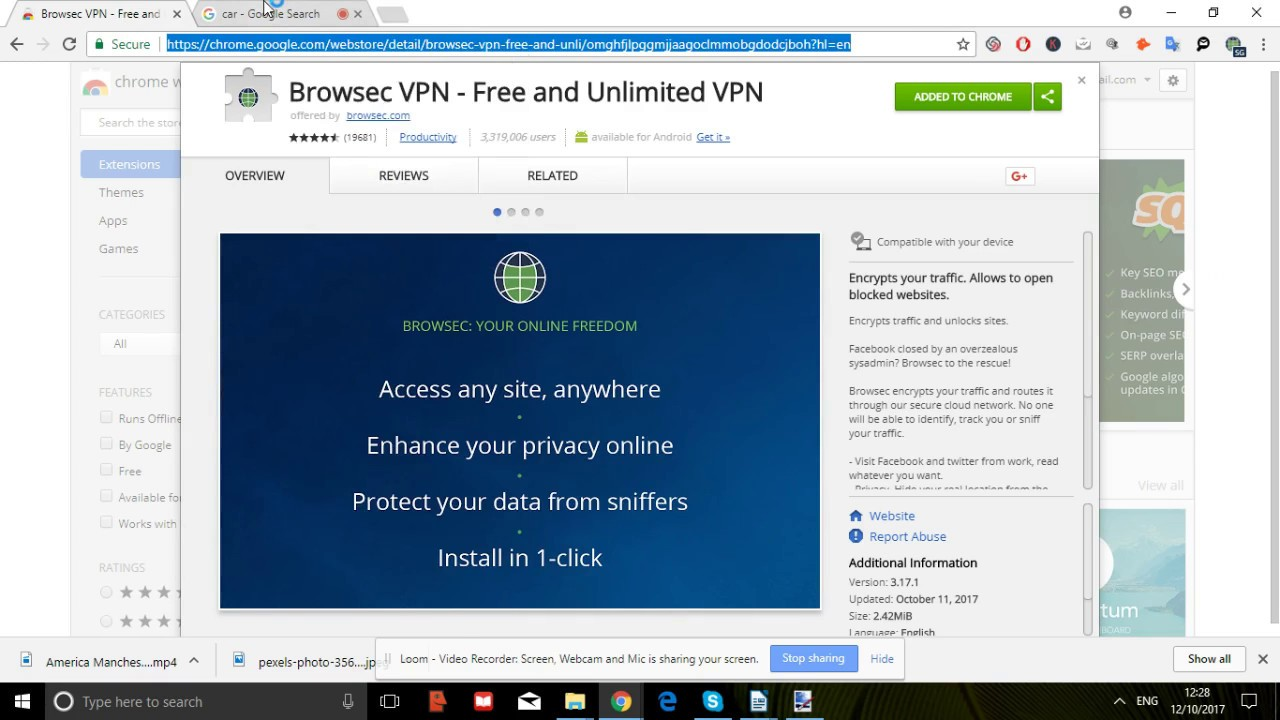 Browsec VPN for free