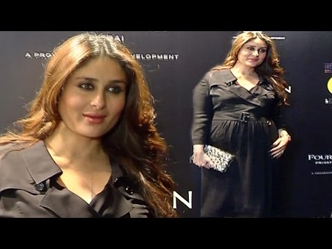 Pregnant Kareena Kapoor With BABY BUMP At MAMI Film Festival 2016