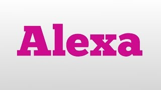 alexa name meaning urban dictionary