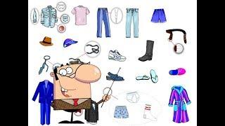 تعلم أسماء ملابس الرجال باللغة الفرنسية les vêtements d'homme Men's Clothing