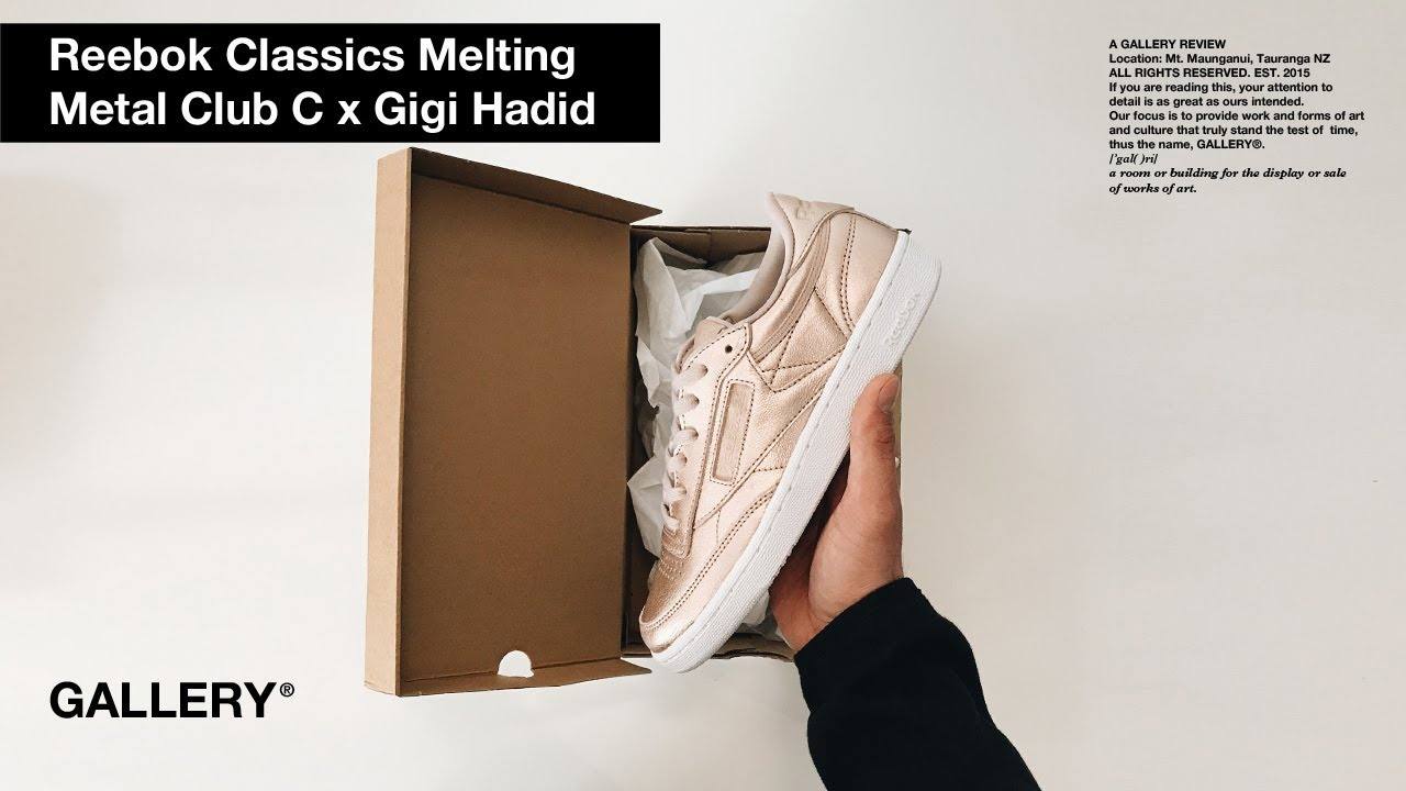 bbc8fda33131d REEBOK CLUB C 85 MELTED METAL – feat. GIGI HADID - YouTube