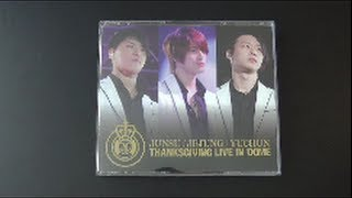 Unboxing JYJ Japanese Live Album Thanksgiving Live in Dome