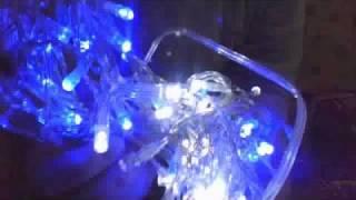 90 Blue & White Christmas Lights