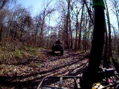 Honda 300, Grizzly 350, Big Bear 350, Bayou 220, Arctic Cat 650 trail riding