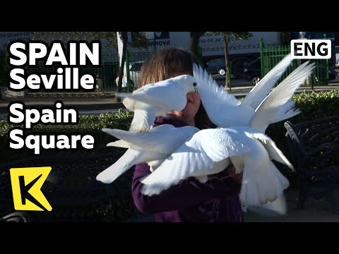 【K】Spain Travel-Seville[스페인 여행-세비야]스페인 광장/Spain Square/Coach/Maria Luisa Park/Filiming Site/Bench
