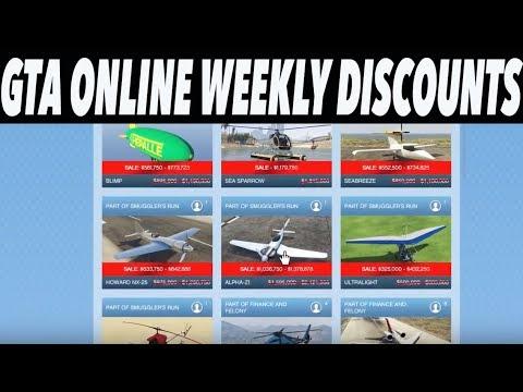 GTA Online Weekly Discounts! (HUGE ELITAS SALE!)