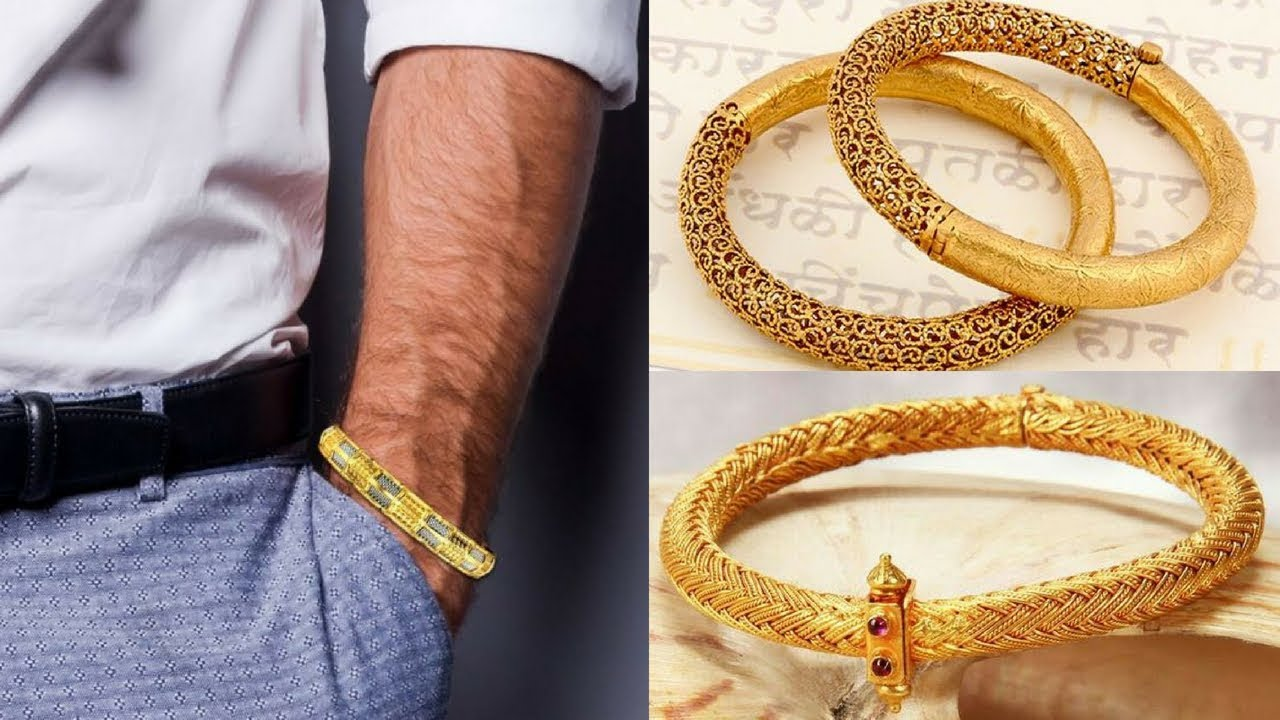 Latest Gold Kada Designs For Mens Gold Kada Designs With Weight
