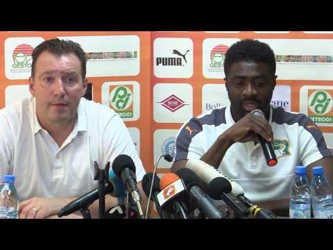 Football / Mondial 2018: Conférence de presse avant le match Côte d'Ivoire - Maroc