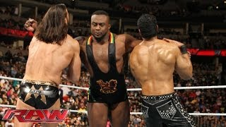 Big E vs. Drew McIntyre & Jinder Mahal - 2-on-1 Handicap Match: Raw, Feb. 17, 2014