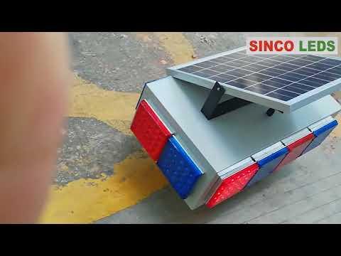 solar powered led strobe light