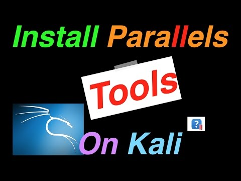 How To Install Parallels Tools on Kali 2016.1 and higher