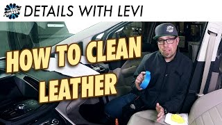 The BEST TOOL for Cleaning Leather Seats | DETAILS WITH LEVI