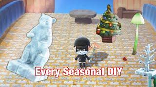 Every Seasonal DIY Recipe In Animal Crossing: New Horizons