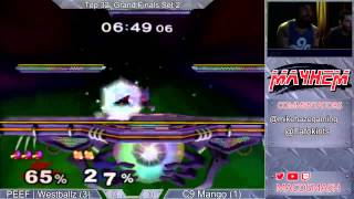Mayhem June 2015 GF: Westballz (Red) vs Mango (Neutral Falco/Fox)