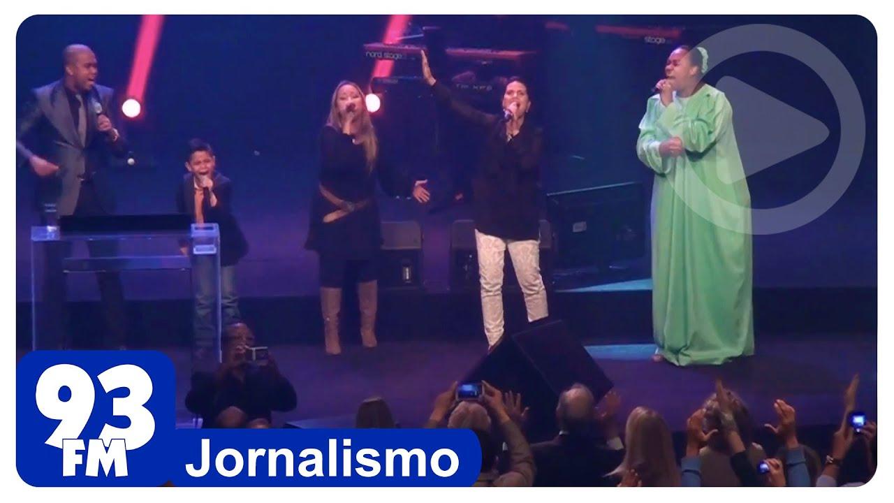 Culto da Rádio 93 FM - Aline Barros, Bruna Karla, Elaine Martins e Gabriel - (News)