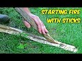Starting Fire with Sticks - -Fire Plow-