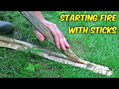 """Starting Fire with Sticks - """"Fire Plow"""""""