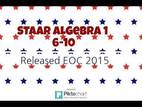 staar algebra 1 eoc released exam 2015 6 10 youtube. Black Bedroom Furniture Sets. Home Design Ideas
