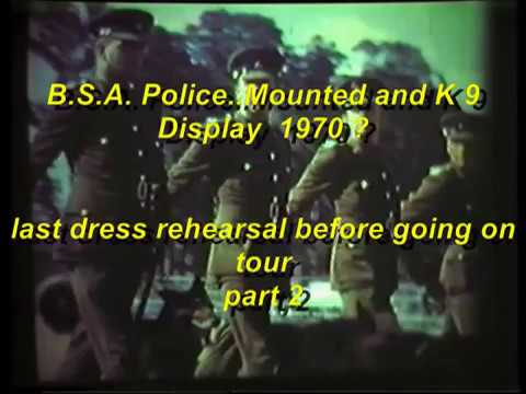 Rhodesia,,,,B.S.A.Police Mounted and K9 Display  1970? Part 2