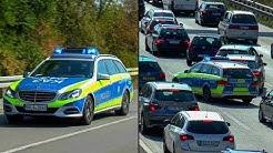 DREISTE AUTOFAHRER & WILDE FAHRMANÖVER - Einsatzfahrt Autobahnpolizei Karlsruhe