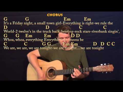 We Are Tonight (Billy Currington) Strum Guitar Cover Lesson with Chords / Lyrics