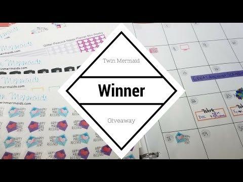 Twin Mermaid Planner Giveaway Winner ..... well actually 2 WINNERS!