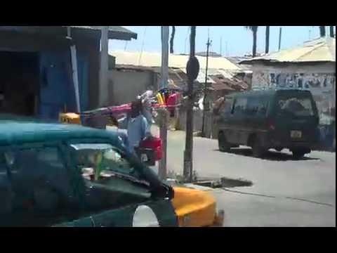 Downtown Winneba, Ghana, West Africa
