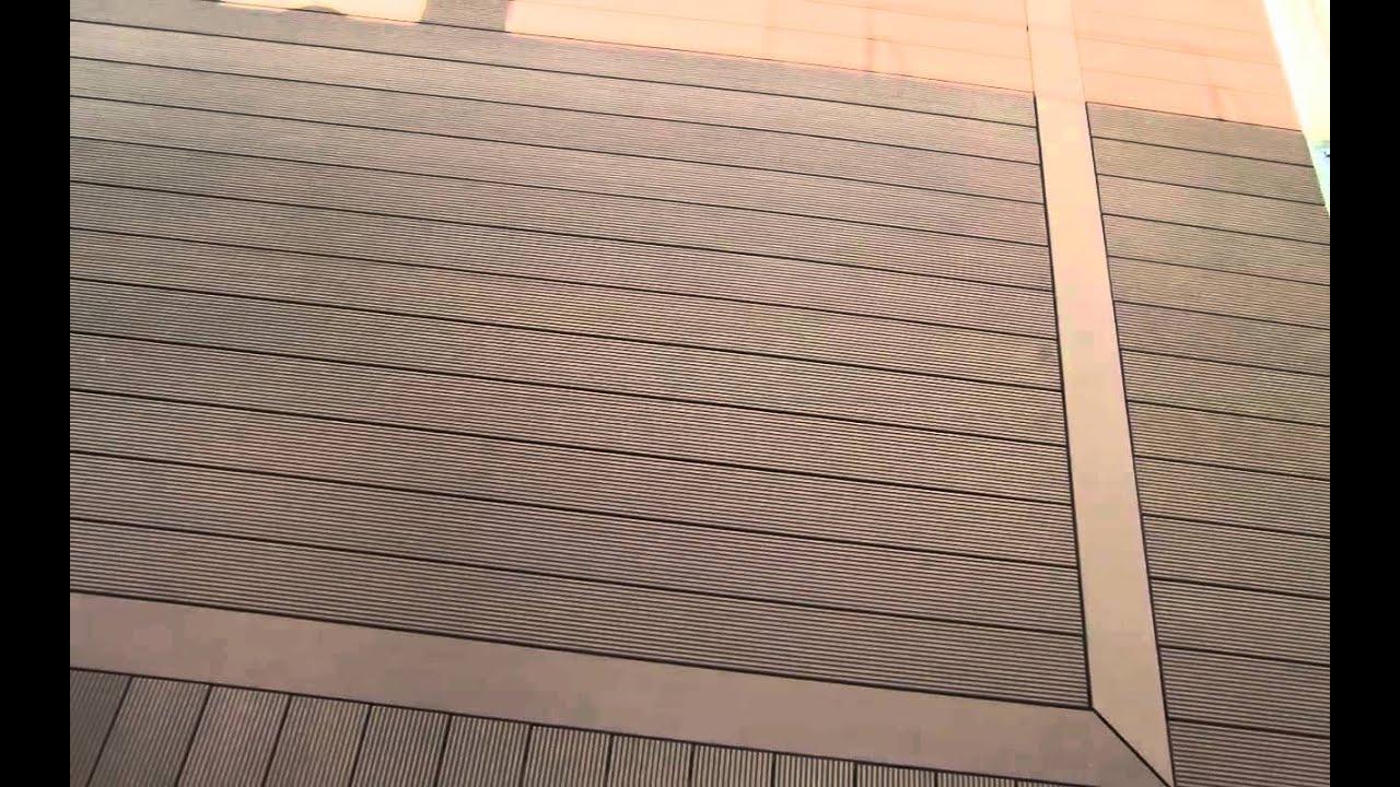 Plasticwood composito decking pavimento per esterni in