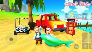 Pak Endut Beli Mobil Api dan Mobil Zebra | Game Wilson Kiddy