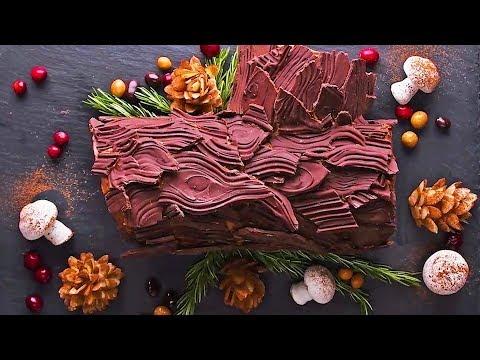 EASY Yule Log Cake Recipe | Christmas Dessert | Christmas Cake Recipe By So Yummy