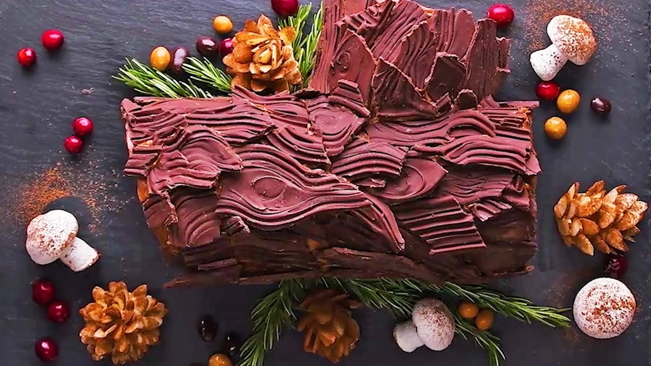 Christmas Yule Log Cake.Easy Yule Log Cake Recipe Christmas Dessert Christmas Cake Recipe By So Yummy