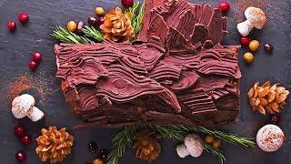 EASY Yule Log Cake Recipe   Christmas Dessert   Christmas Cake Recipe By So Yummy