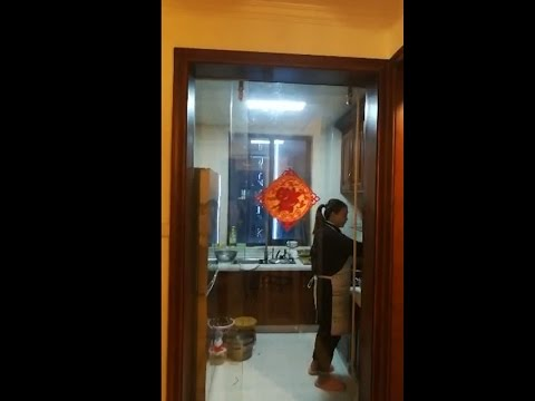Magnetic sliding door for kitchen without change door structure
