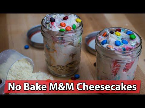 Labrada No Bake M&M Protein Cheesecakes