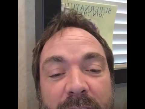 mark sheppard  misha collins facebook livestream from mark's misha!